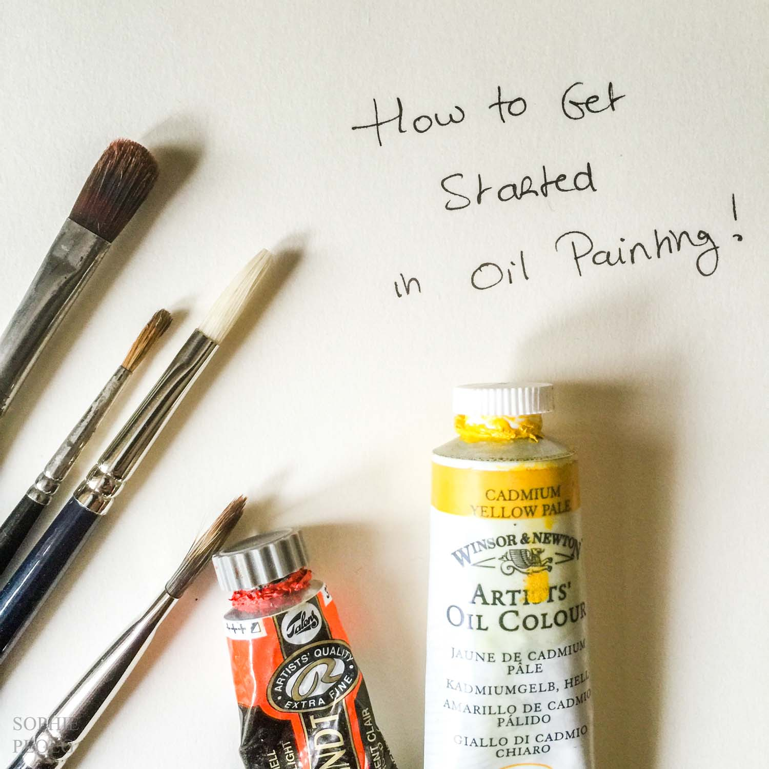 Busting the myths of oil painting starting out sophie ploeg for How to start oil painting