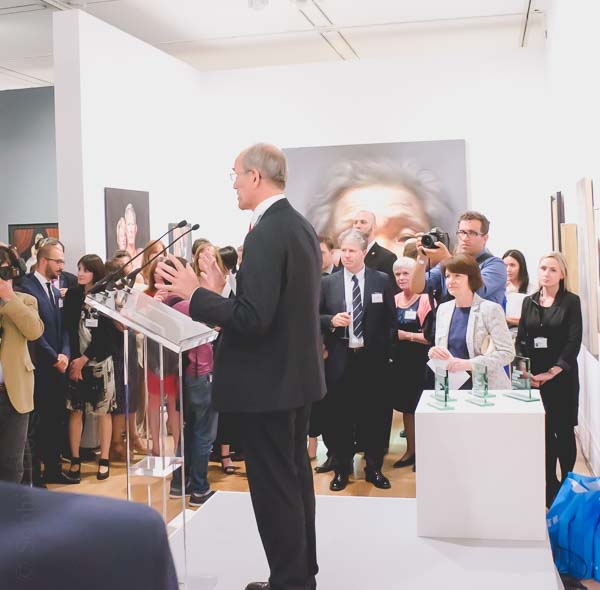 PiSandy Nairne opens the BP Portrait Exhibition at the National Portrait Gallery in London, 2014cture