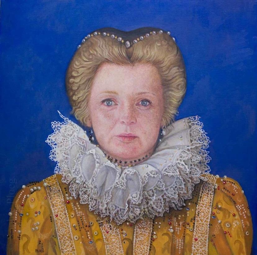 Sophie Ploeg, Elizabeth Kate, oil, 51x51cm