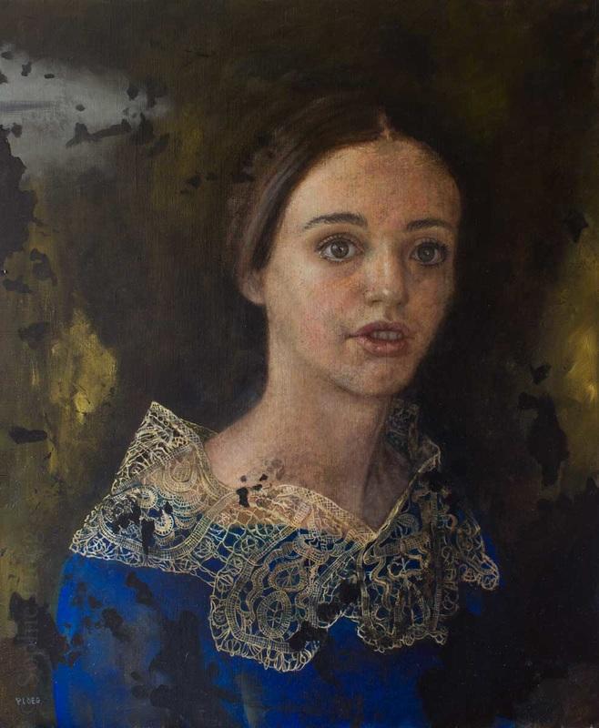 Sophie Ploeg, The Girl in the Mirror, oil, 60x50cm