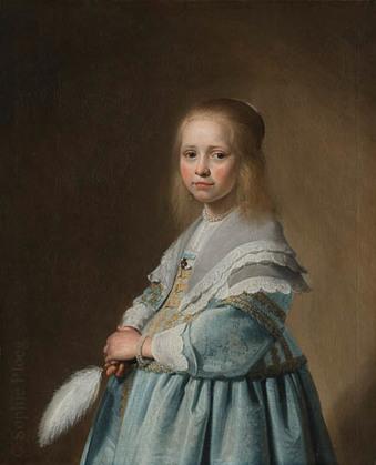 Johannes Verspronck, Portrait of a Girl Dressed in Blue, 1641. Rijksmuseum
