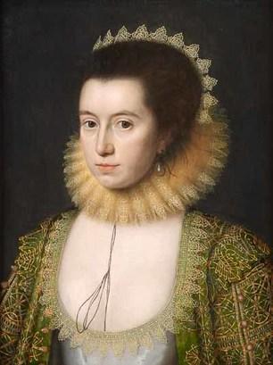 William Larkin, Portrait of Lady Anne Clifford, 1618. National Portrait Gallery London.