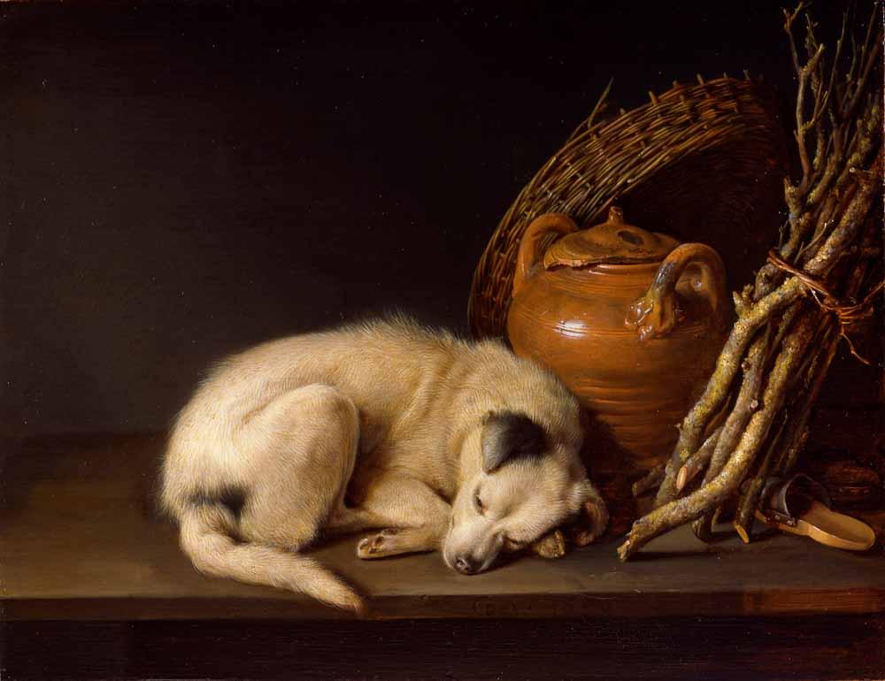 Gerrit Dou, Dog asleep