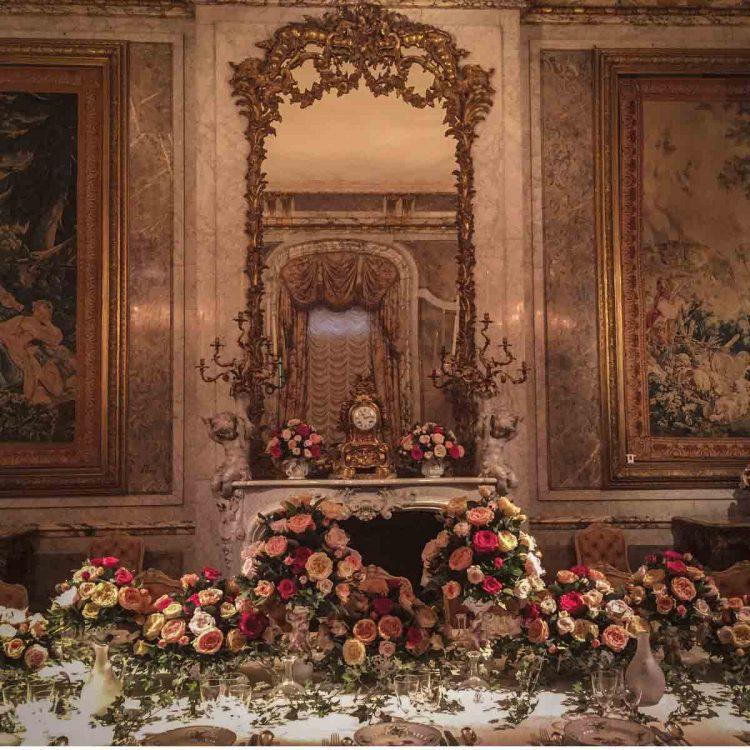 The dining room at Waddesdon Manor