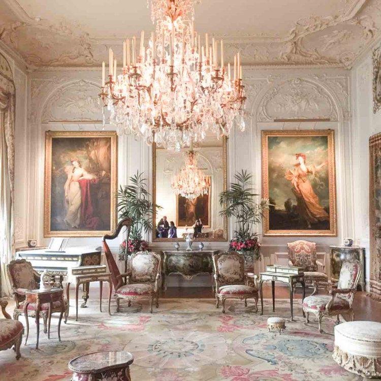 The grey drawing room at Waddesdon Manor