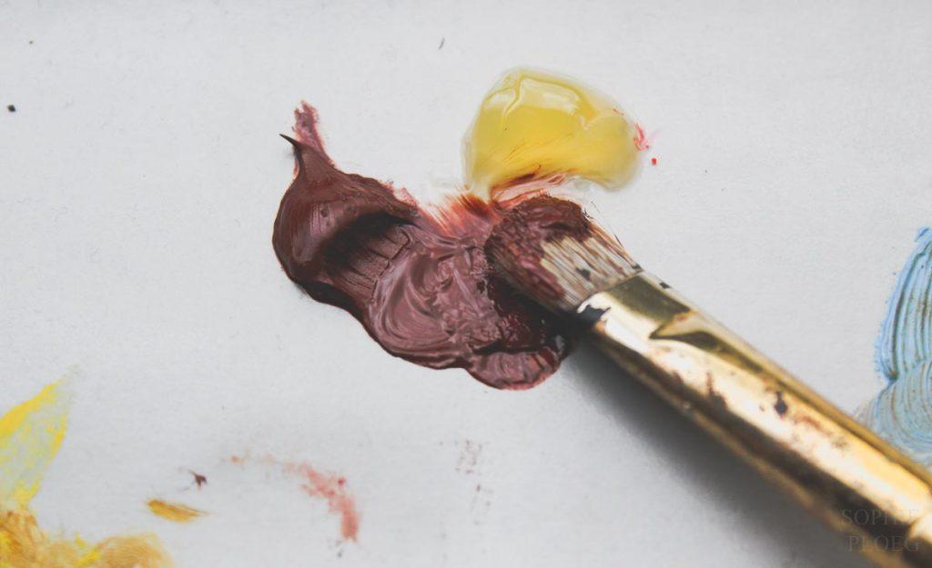 Sophie Ploeg oil painting Fat over Lean