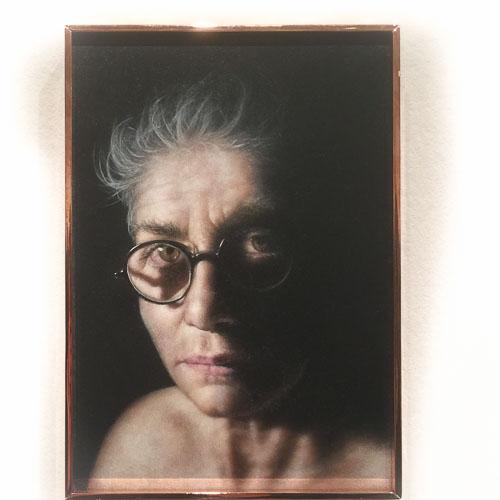 Shany van den Berg. Self, Oil on board, 30x21cm