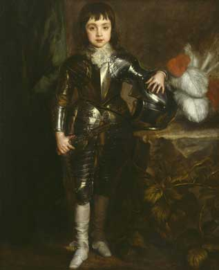 Portrait of Charles I when a boy, Van Dyck, 1638. Image: Harley Gallery