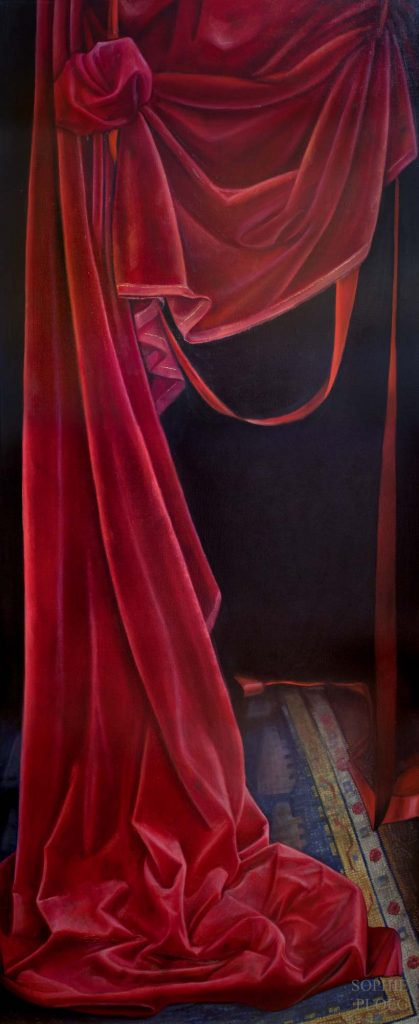 Sophie Ploeg, The Curtain Falls, oil on linen
