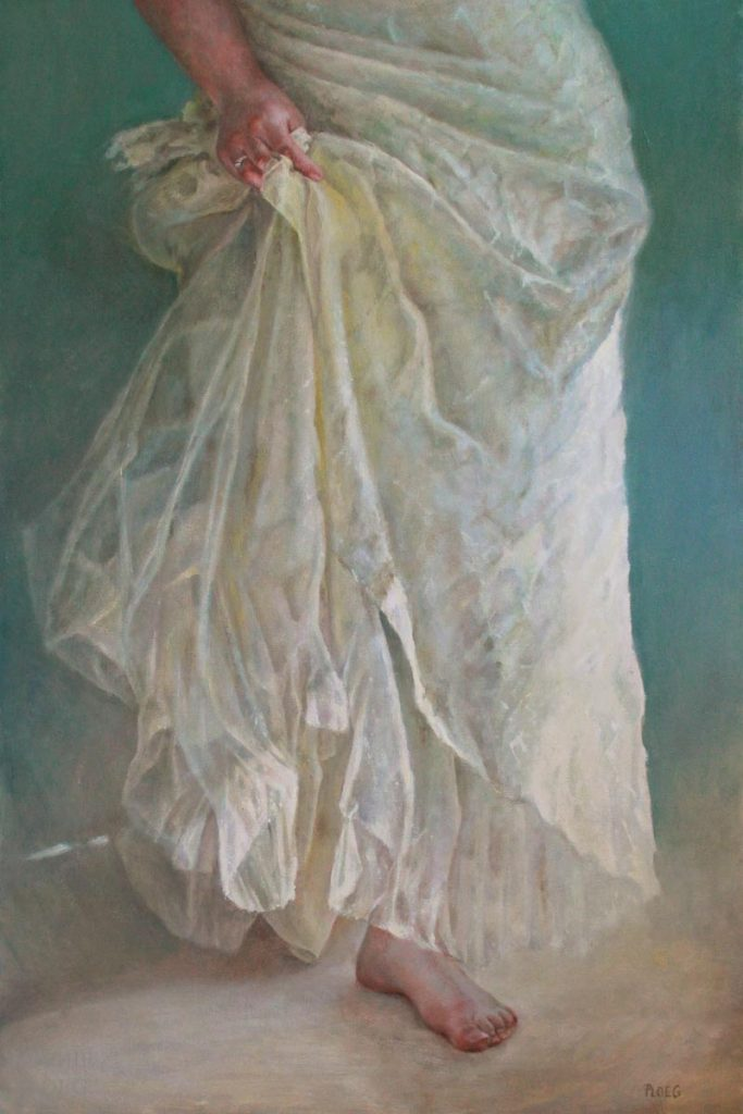 Sophie Ploeg, Drapery, oil on canvas