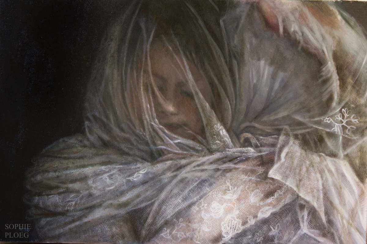 Sophie Ploeg, Enveloped, oil on canvas
