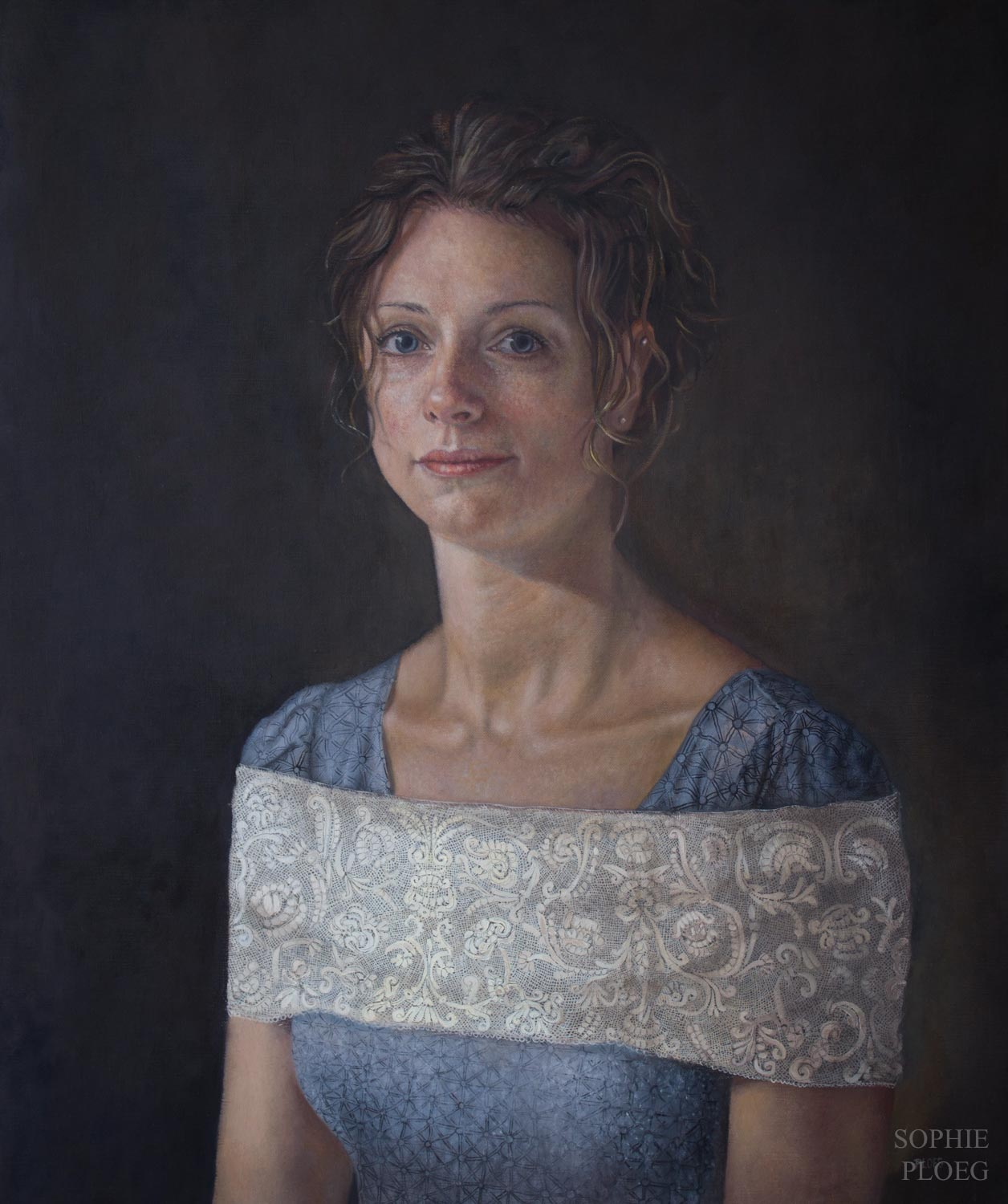 Sophie Ploeg, A Fine Thread, Oil on linen, 60x50cm. Available.