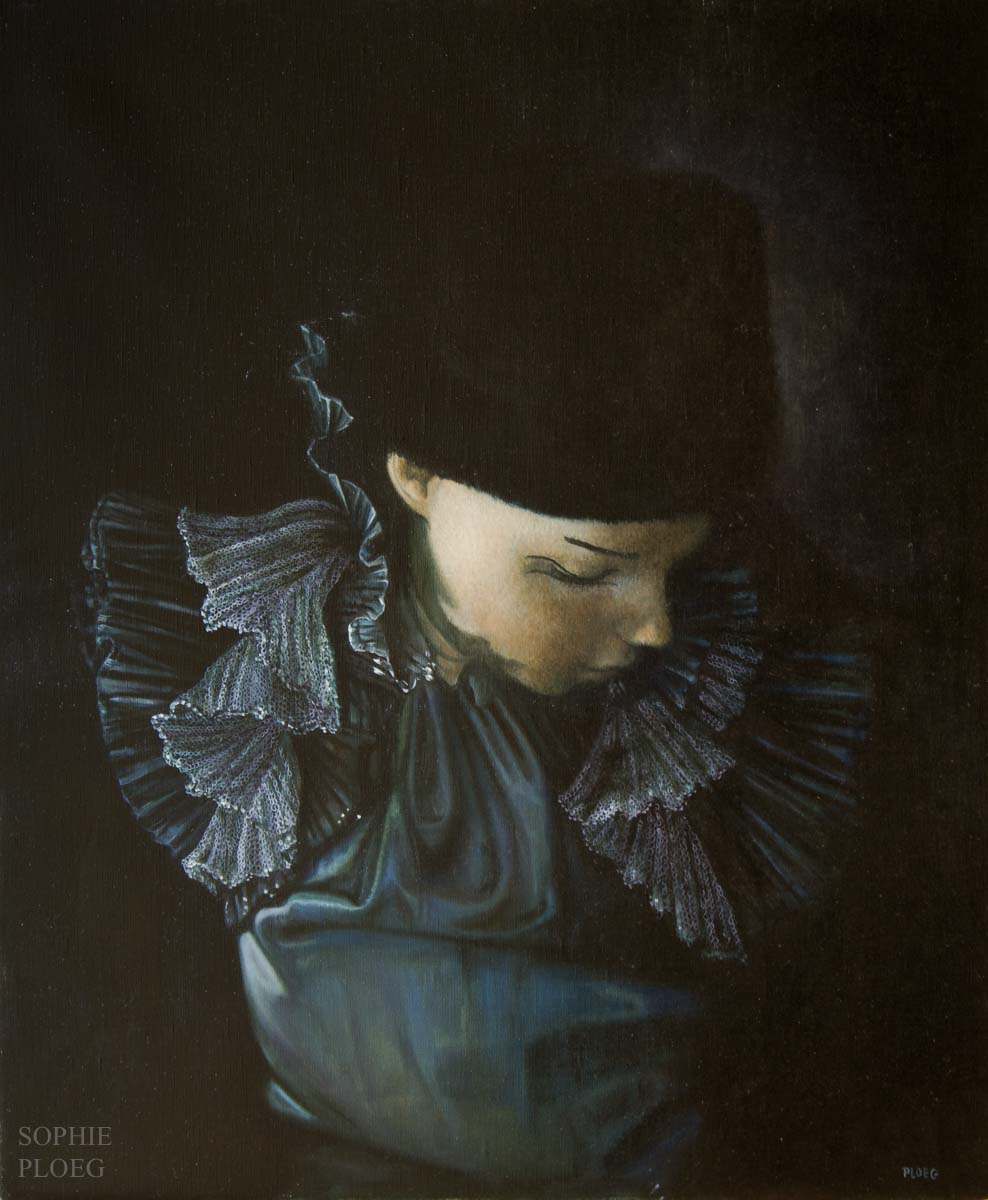 Sophie Ploeg, The Fur Hat, oil on linen