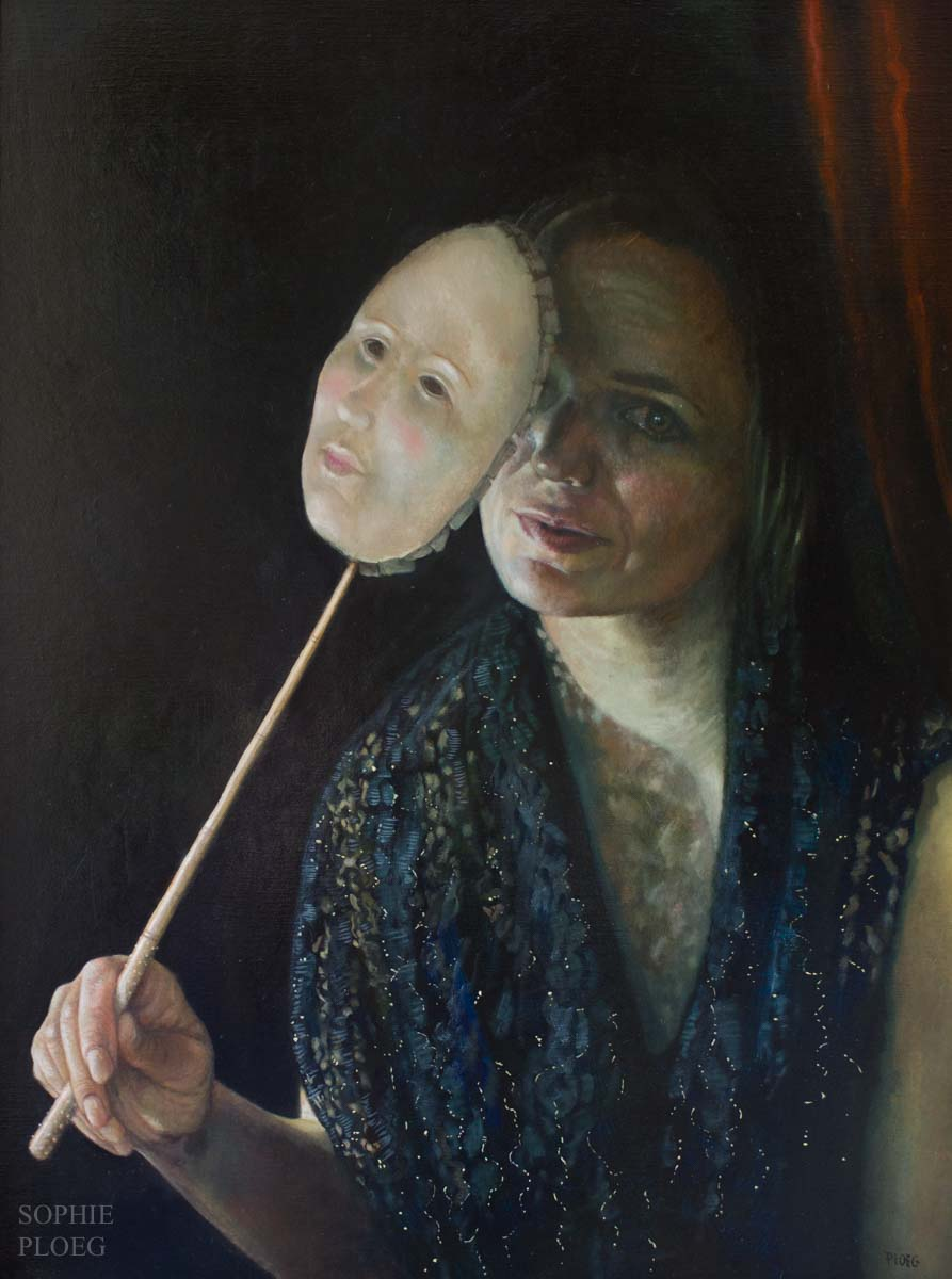 Sophie Ploeg, The Guest, oil on linen