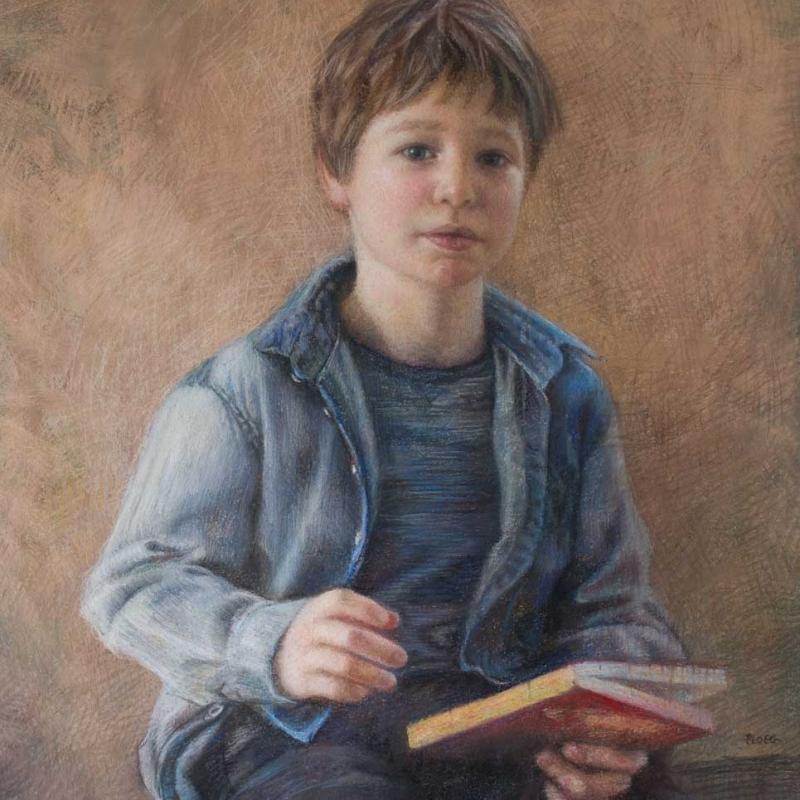 Sophie Ploeg, Joshua, pastel on paper