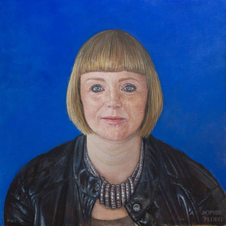 Sophie Ploeg, Kate, Oil on Linen, 51x51cm, Available.