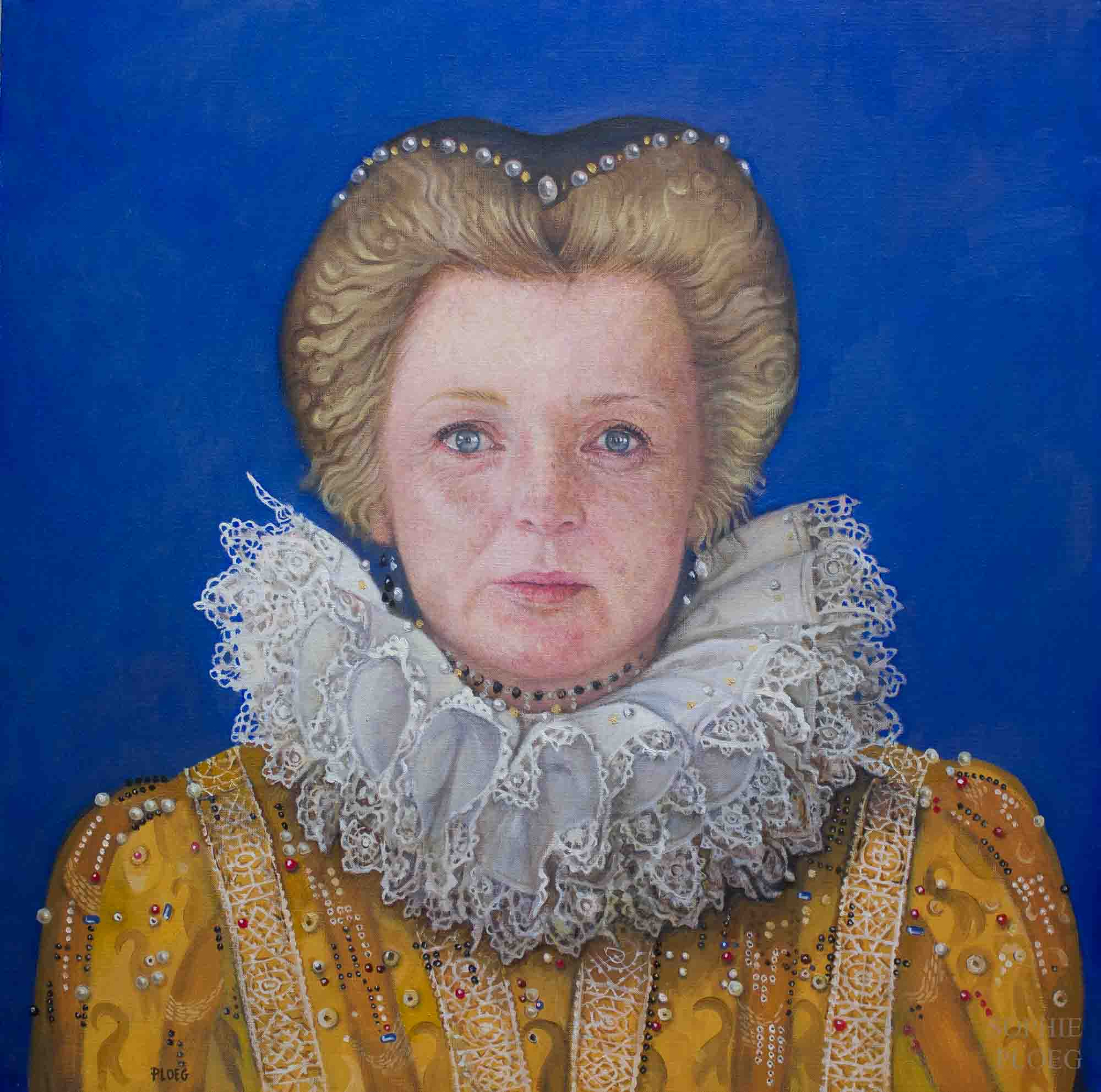 Sophie Ploeg, Kate Elizabeth, Oil on linen, 51x51cm. Available