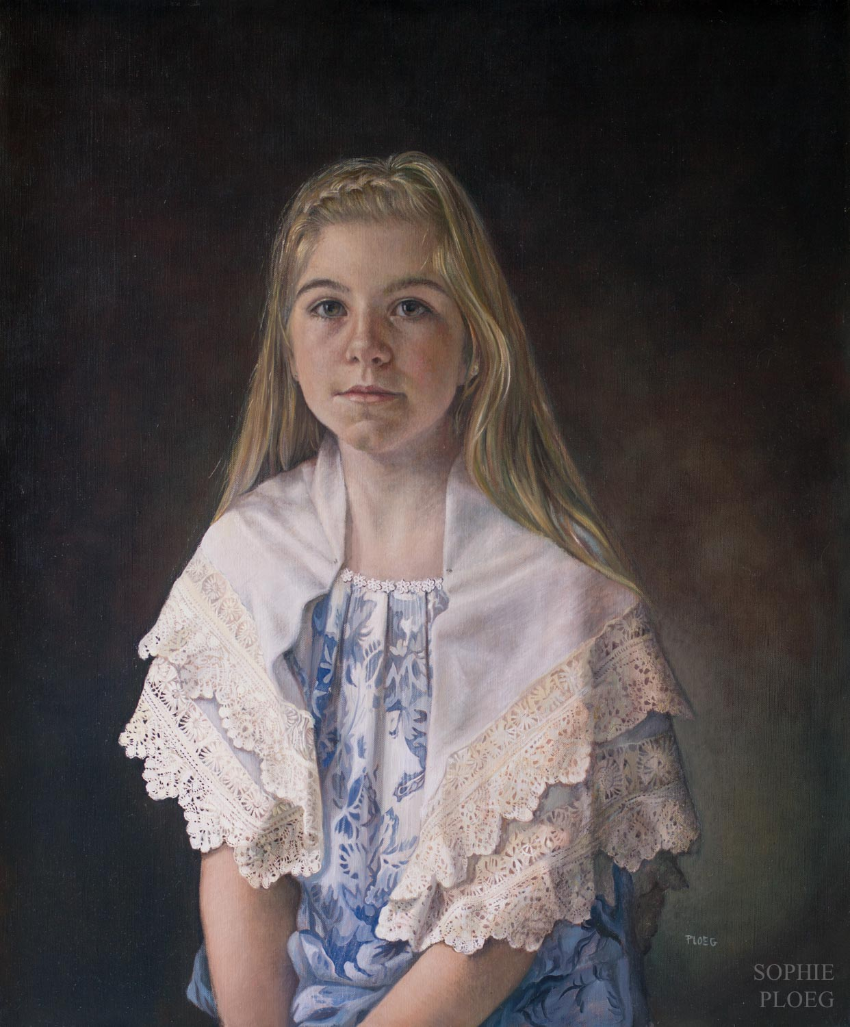 Sophie Ploeg, The Lacemaker, oil on linen