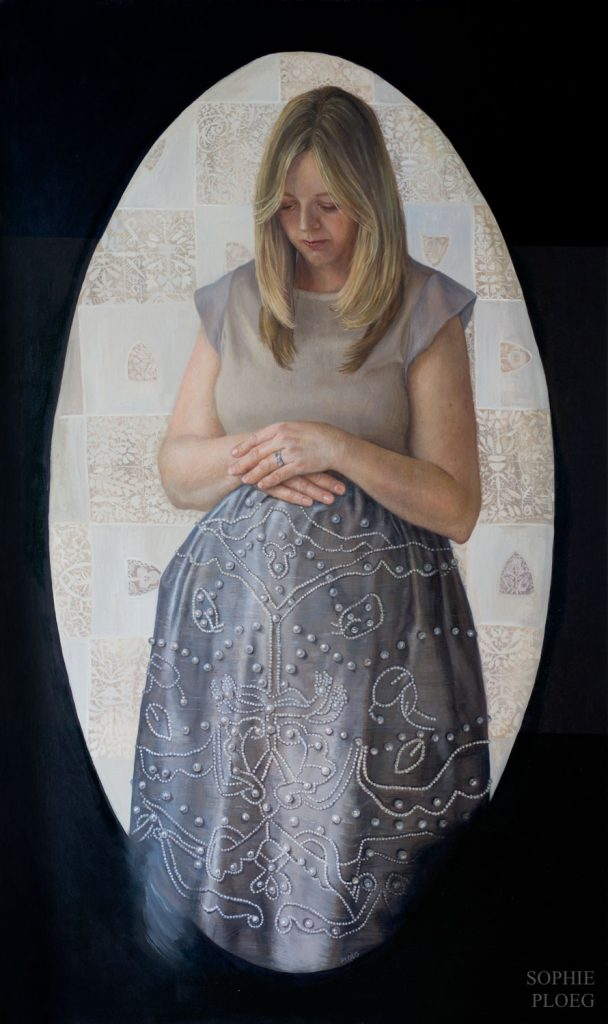 Sophie Ploeg, The Long Wait, oil on linen