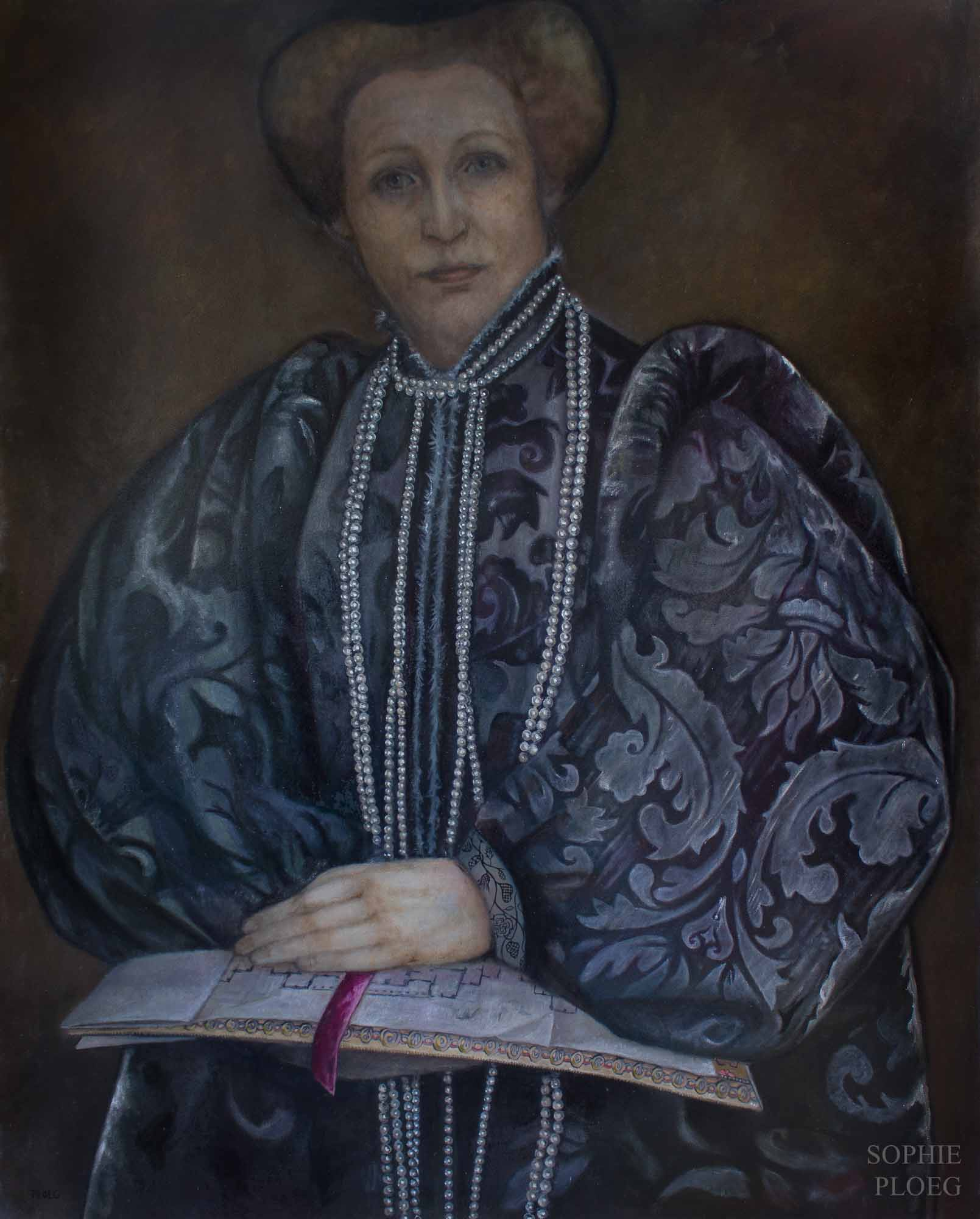 Sophie Ploeg, The Matriarch, oil on linen