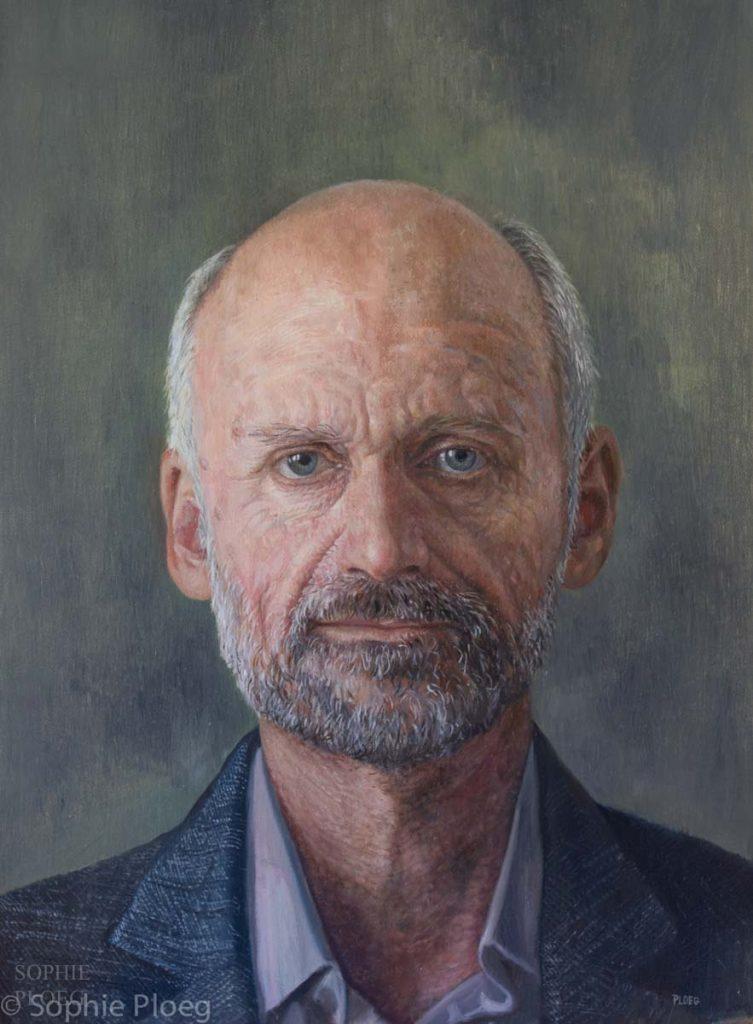 Sophie Ploeg, Paul, oil on linen, 40x30cm.