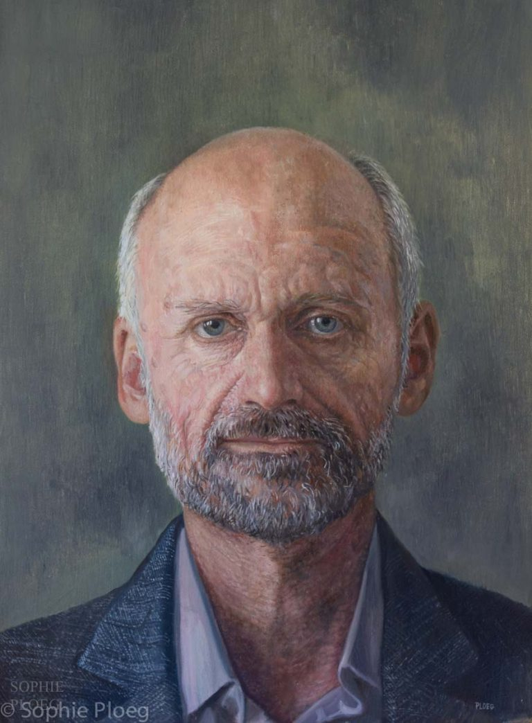 Sophie Ploeg, Paul, oil on linen, 40x30cm.