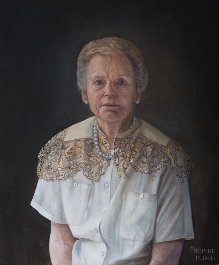 Sophie Ploeg, The Pearl Necklace, Oil on linen, 60x50cm, ​Available