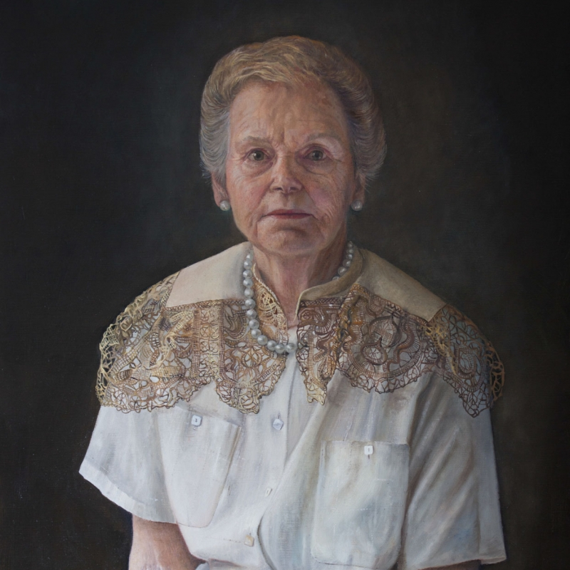 Sophie Ploeg, The Pearl Necklace, Oil on linen, 60x50cm, Available