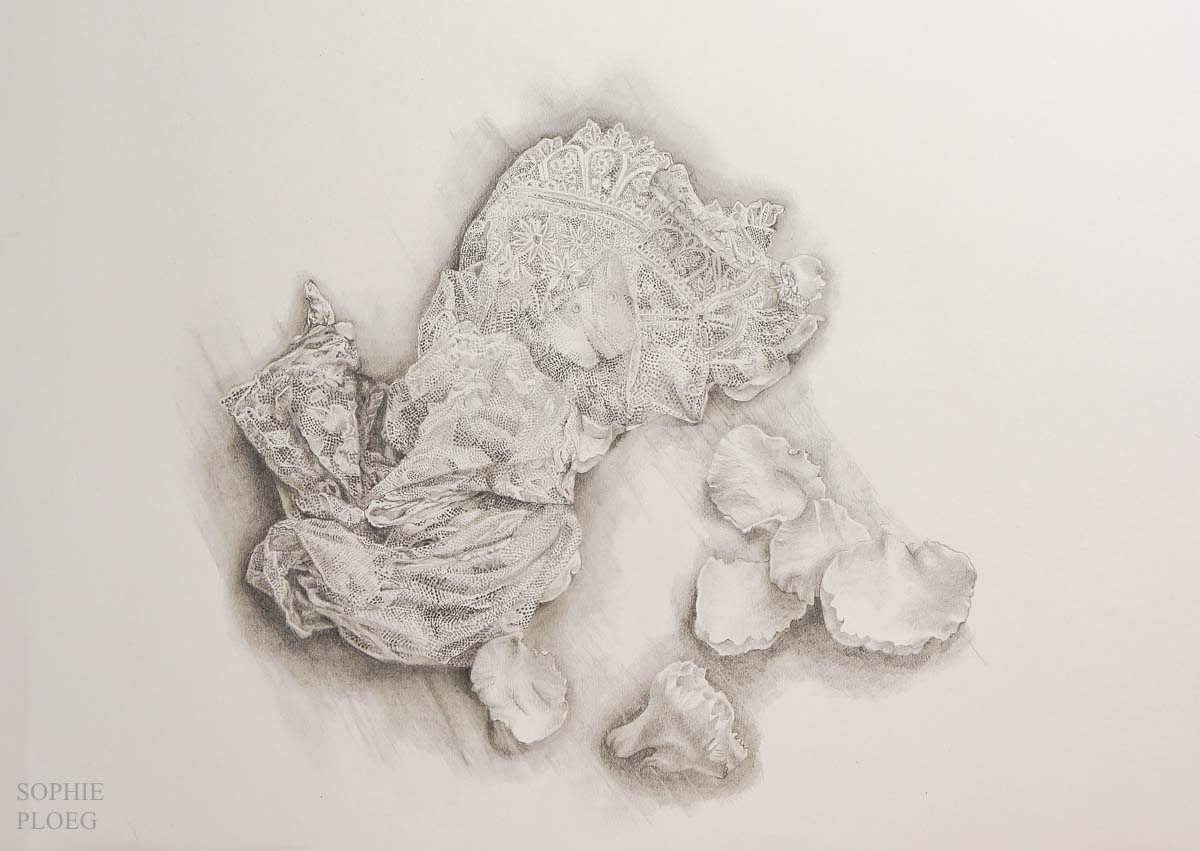 Sophie Ploeg lace drawing