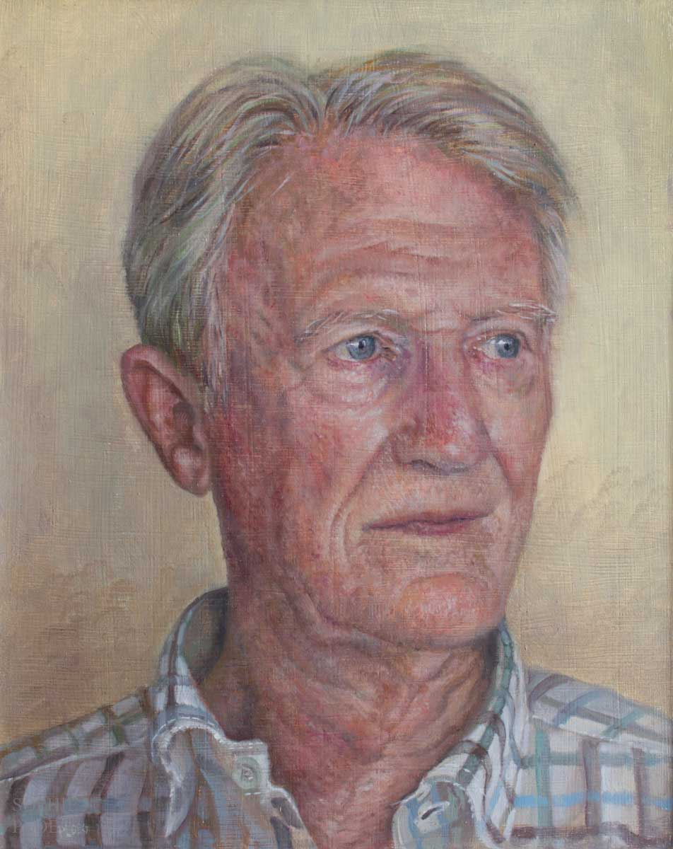 Sophie Ploeg, Portrait of a Man, oil on panel, 25x20cm. Commissioned.