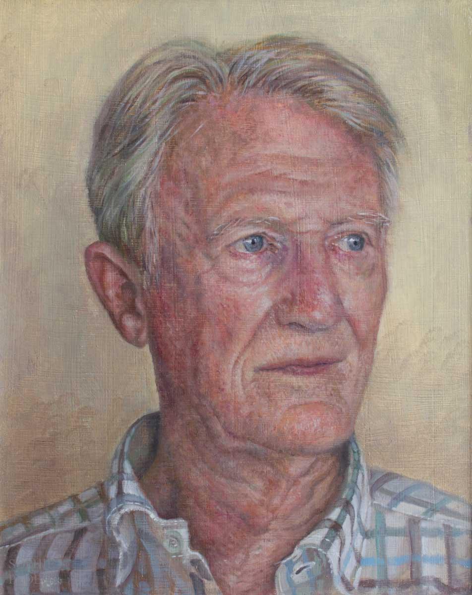 Sophie Ploeg, Portrait of a Man, oil on panel, 25x20cm. Commissioned.