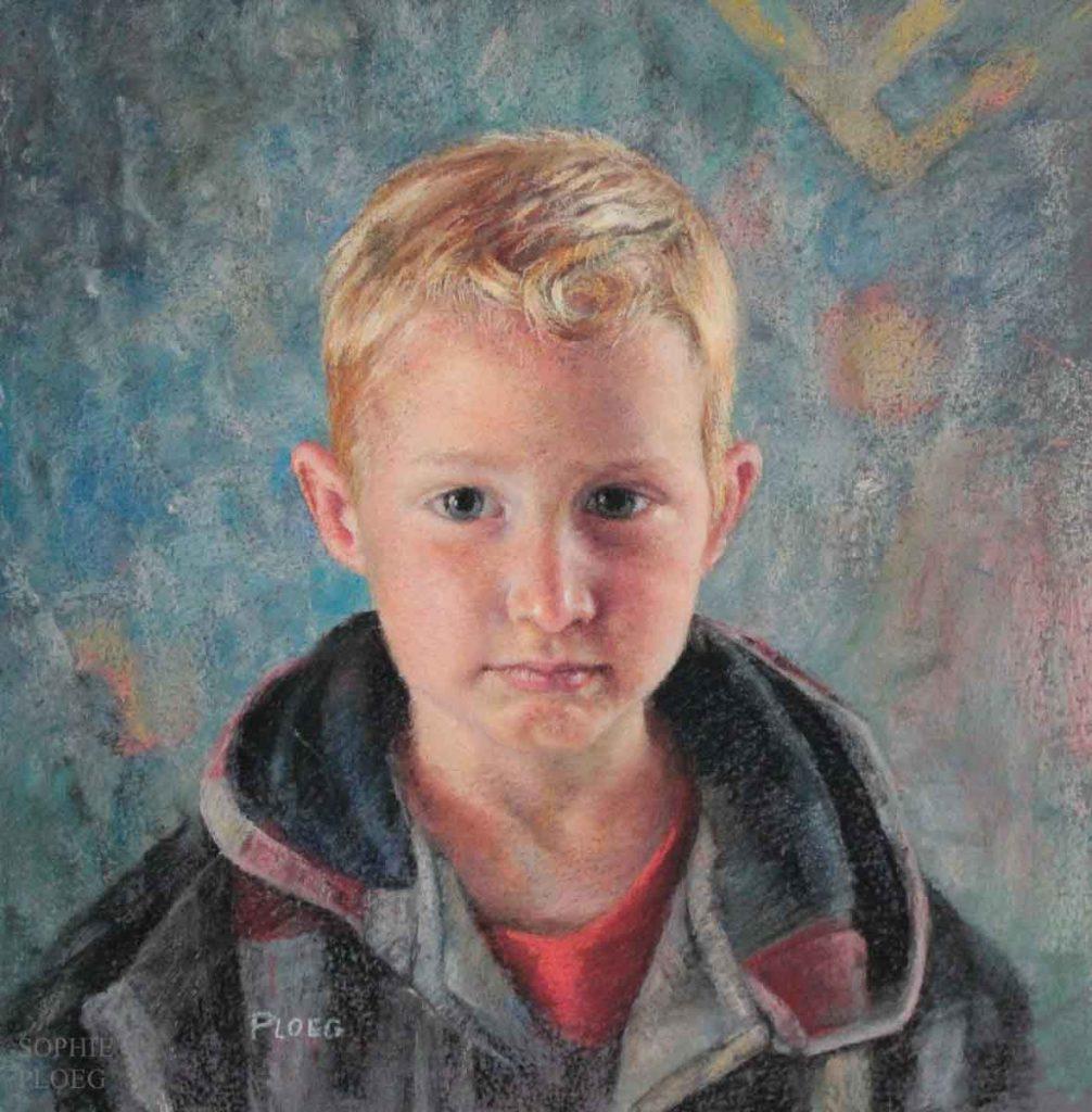 Sophie Ploeg, pastel portrait