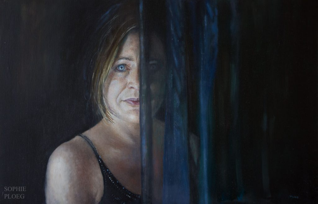 Sophie Ploeg, The Secret, oil on linen