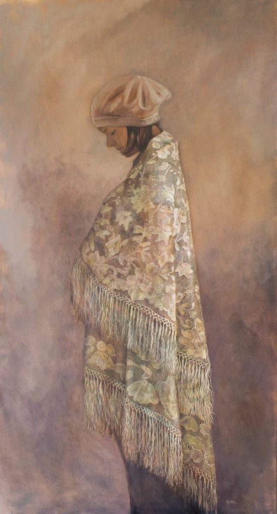 Sophie Ploeg, The Shawl, oil on linen