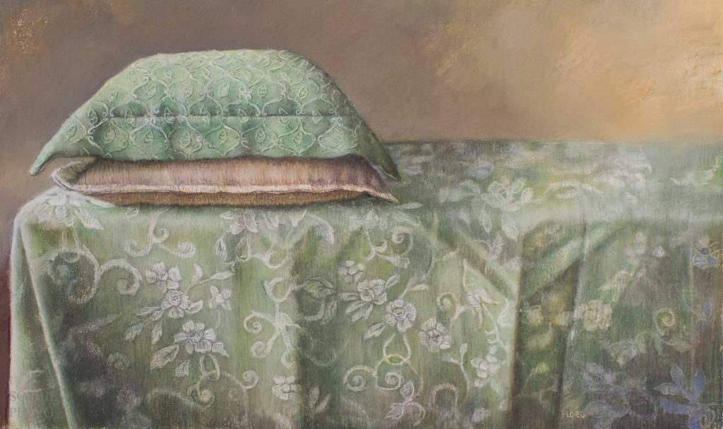 Sophie Ploeg, Two Cushions, pastel