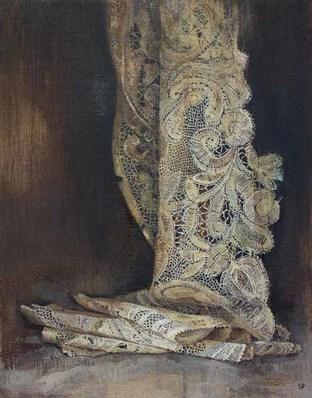Sophie Ploeg, Brabant Lace, oil on linen, 30x25cm