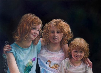 Sisters, oil on canvas, 50x70cm. 2012. Commissioned.