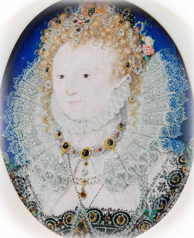 Hilliard, miniature of Elizabeth