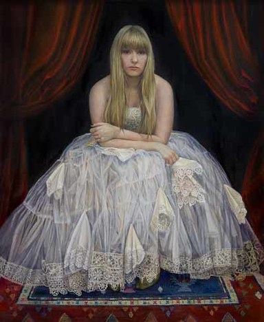 Sophie Ploeg, The Handkerchief Girl, 91.4x76cm