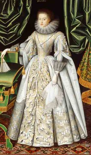 William Larkin, Portrait of Lady Diana Cecil, 1618. English Heritage.