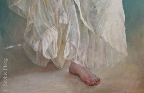 Sophie Ploeg, Drapery (detail), 60x40cm
