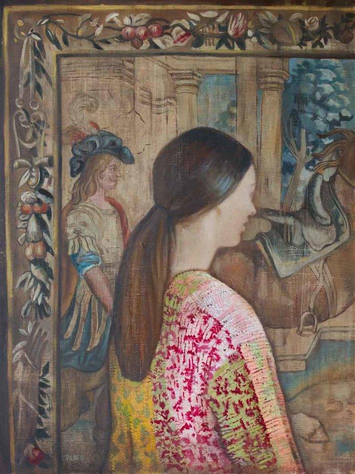 Sophie Ploeg, The Tapestry, oil, 40x30cm