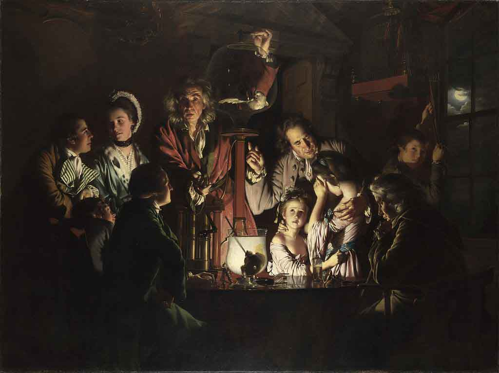Joseph Wright of Derby, An Experiment on a Bird in an Air Pump, 1768. National Gallery, London