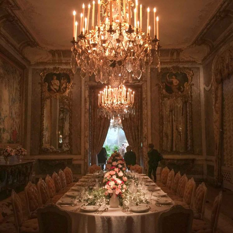 The dining room at Waddesdon Manor