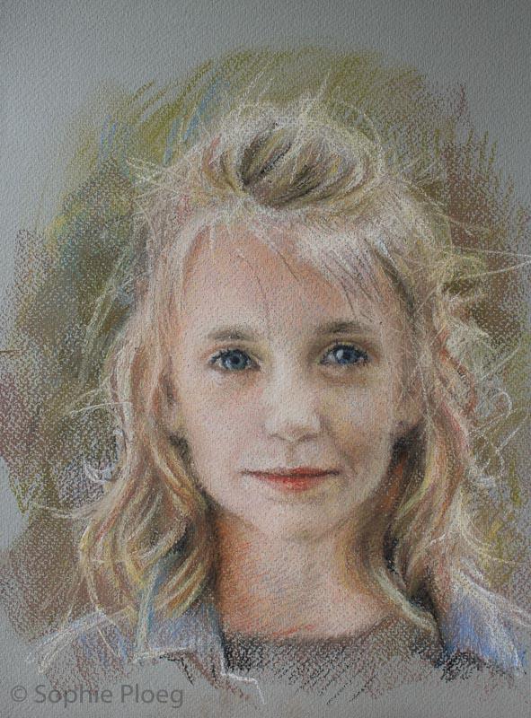 Pastel portrait sketch