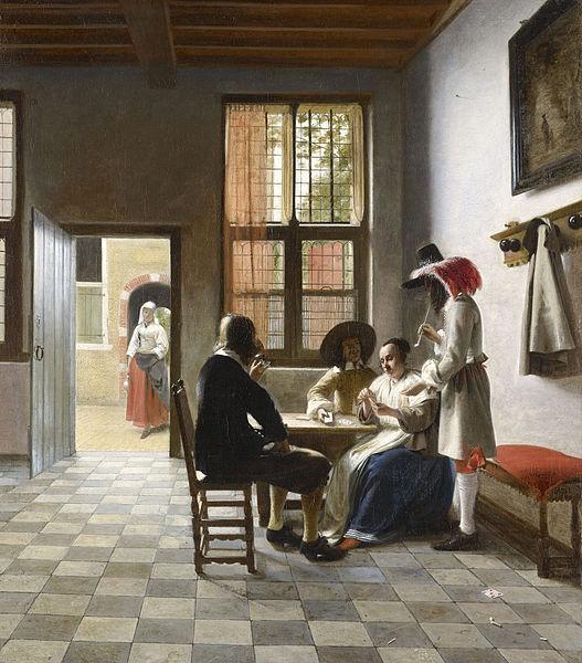 Pieter de Hooch, cardplayers, painting