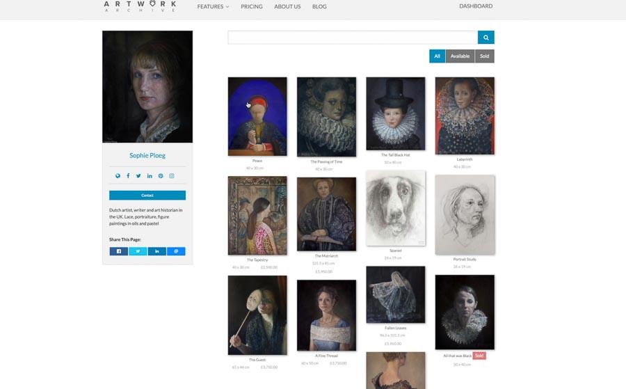 Artwork Archive Public page Sophie Ploeg