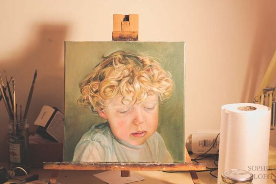 Sophie Ploeg painting plein air