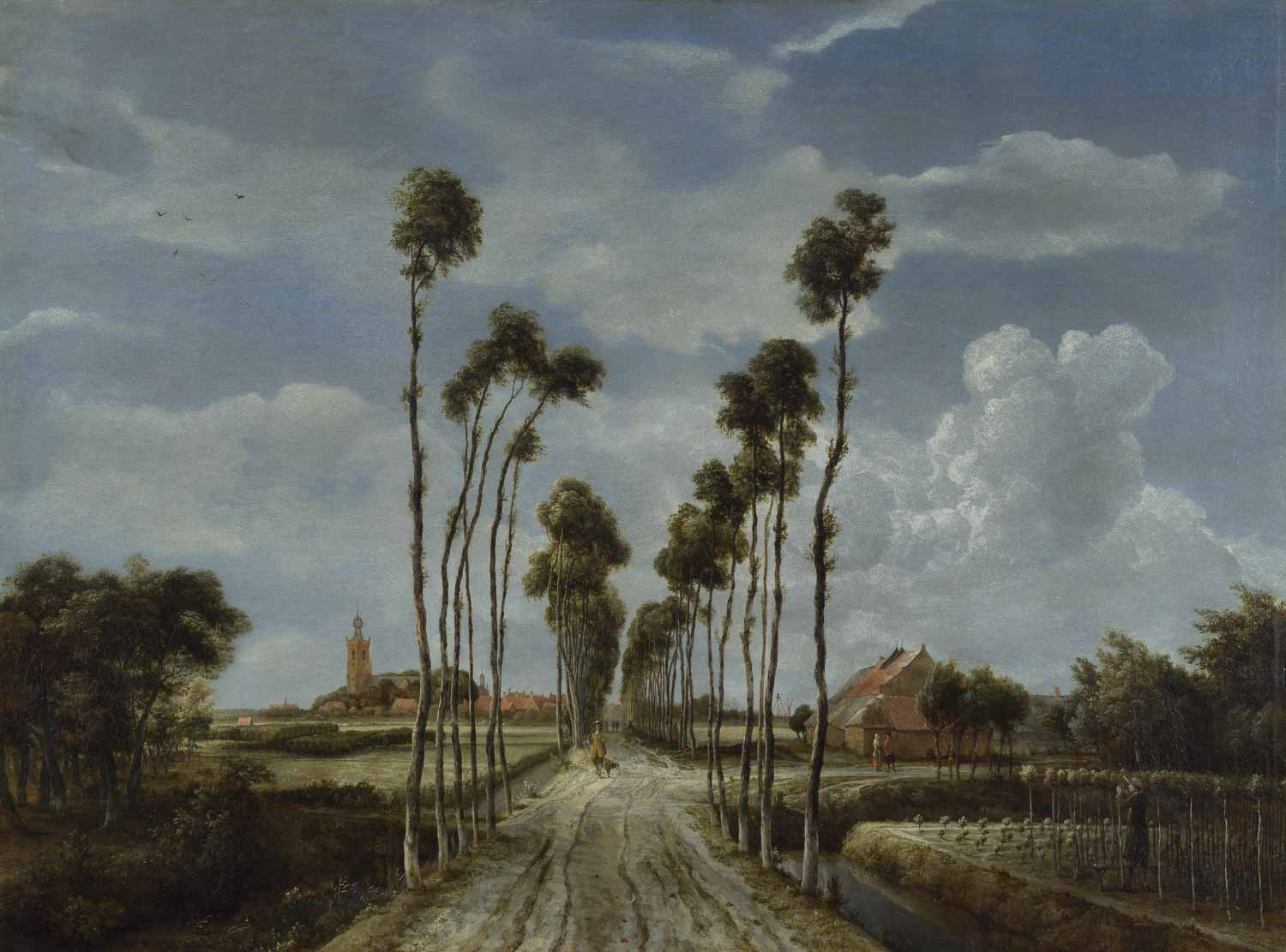 Meindert Hobbema, The Avenue at Middelharnis, National Gallery London