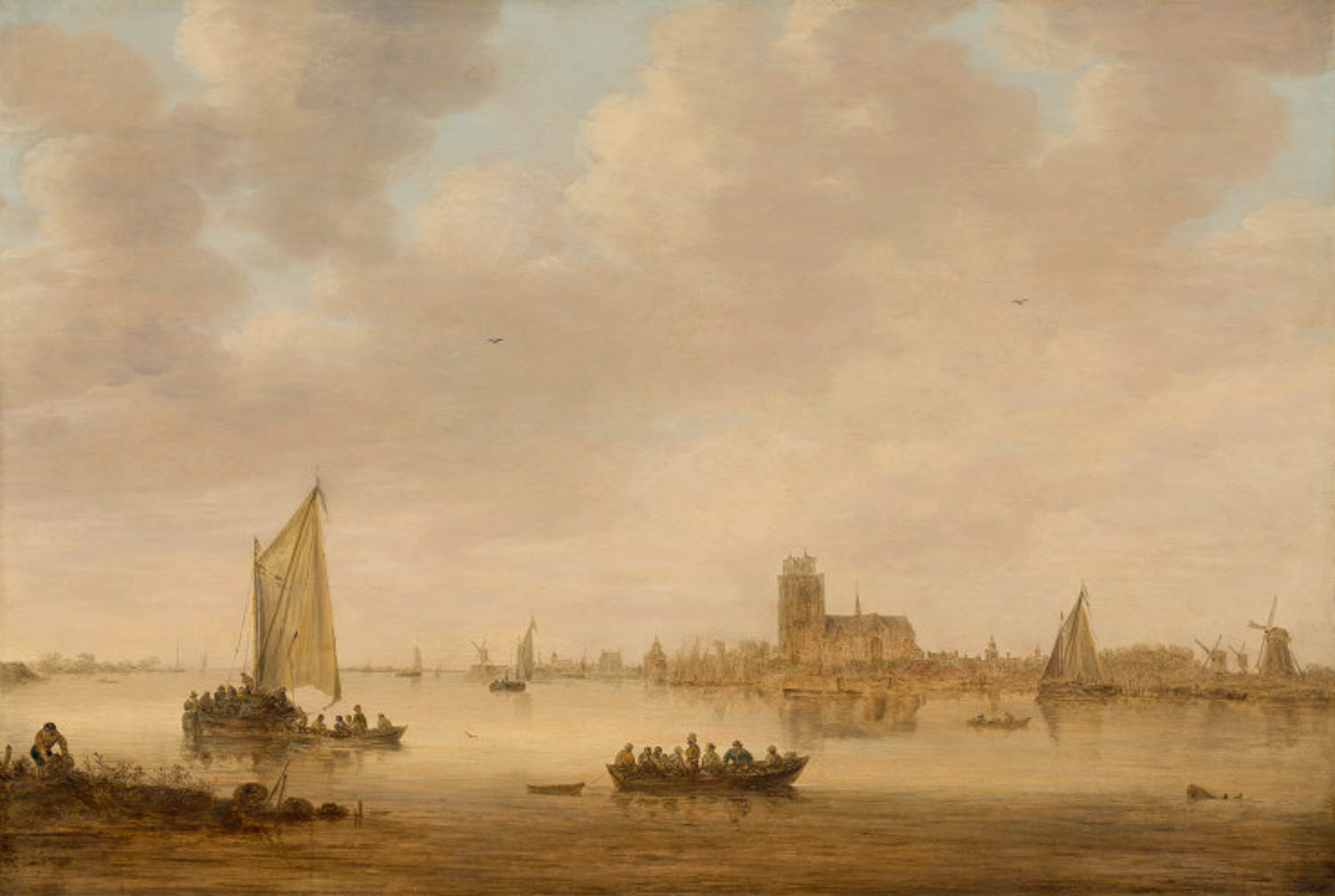 Jan van Goyen, Dordrecht from the Dordste kil